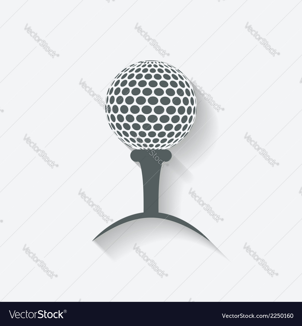 Golf sport icon vector
