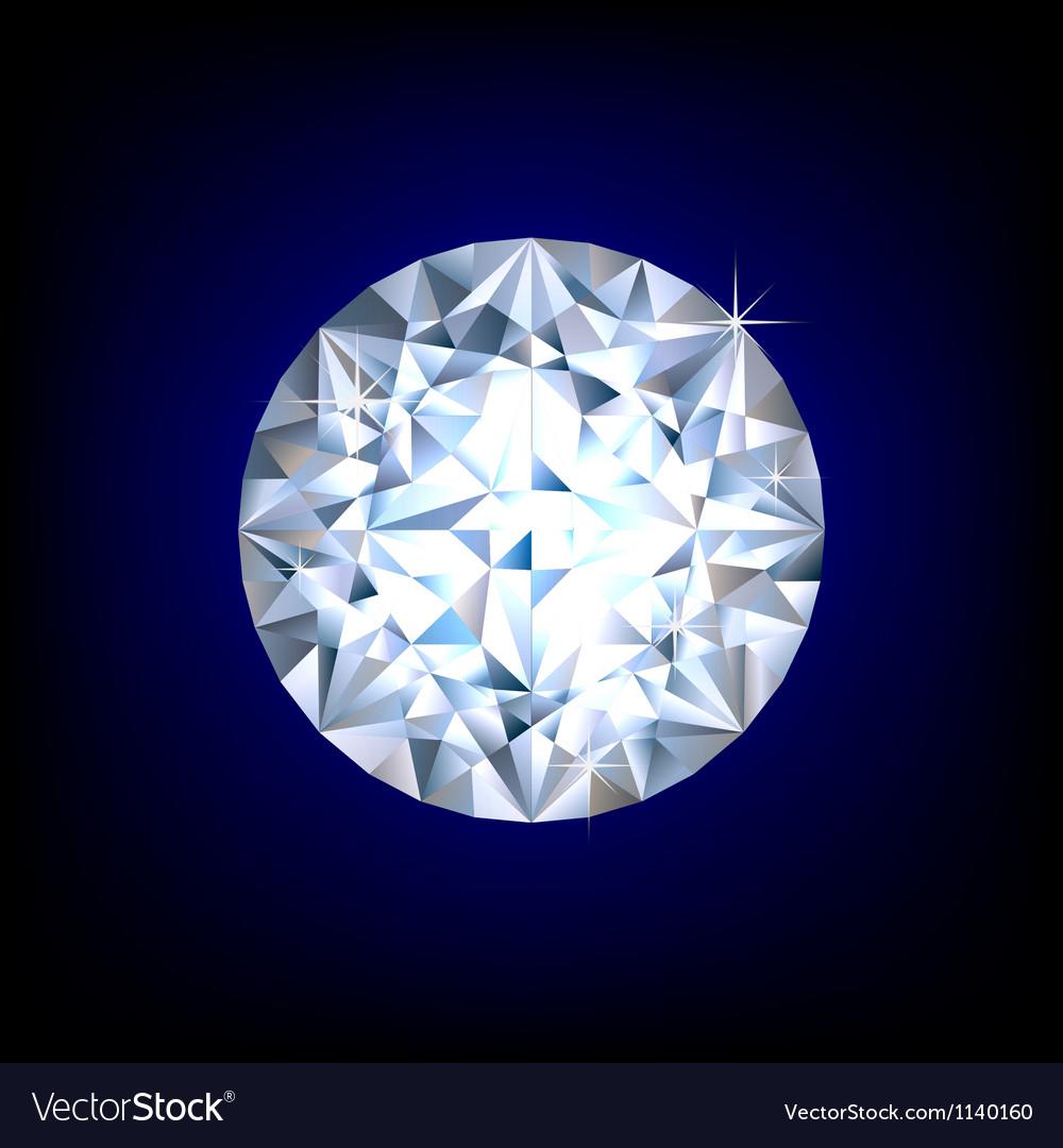 Round diamond vector