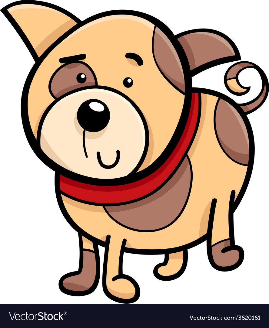 Spotted puppy cartoon vector