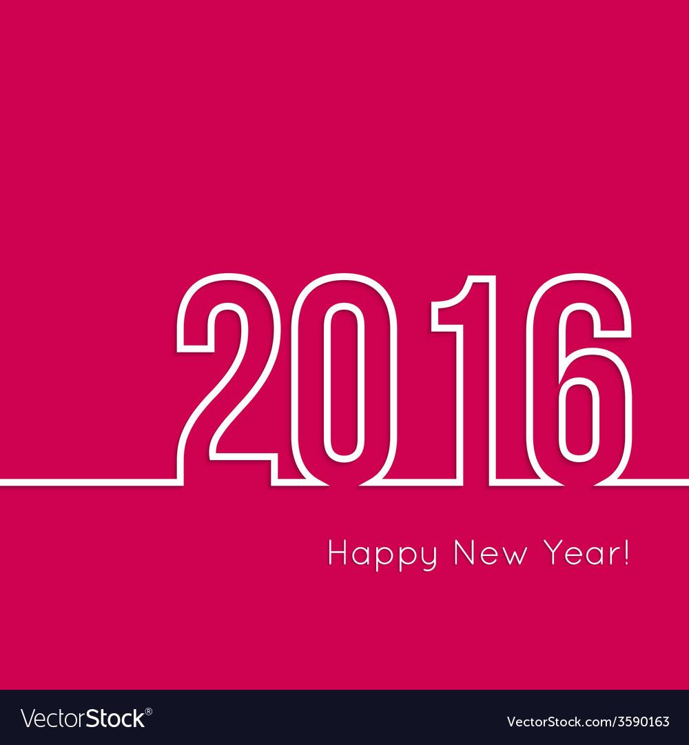 Creative happy new year 2016 design vector