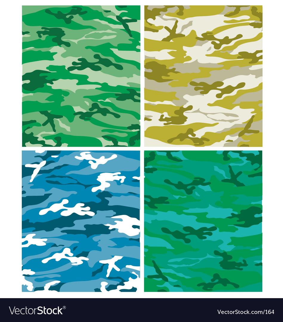 Camoflague patterns vector