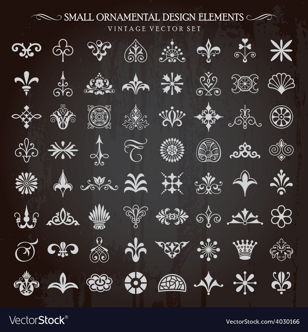 Small design elements vector