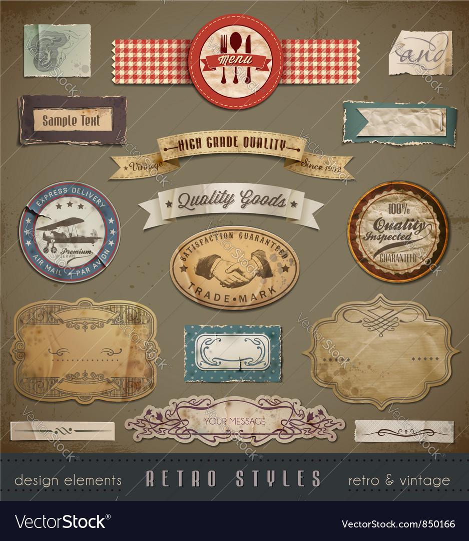 Vintage and retro design vector