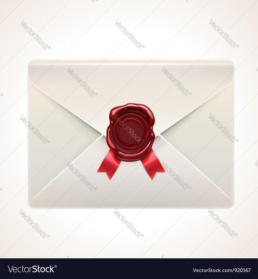 Retro envelope icon vector