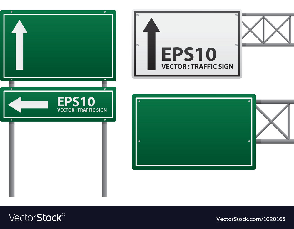 Traffic sign green color vector