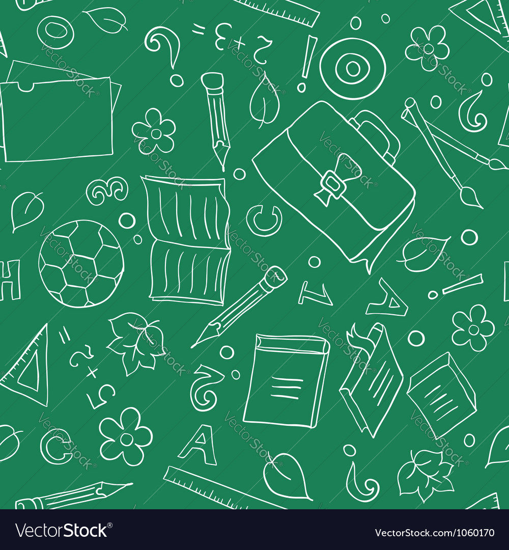 Seamless school background vector