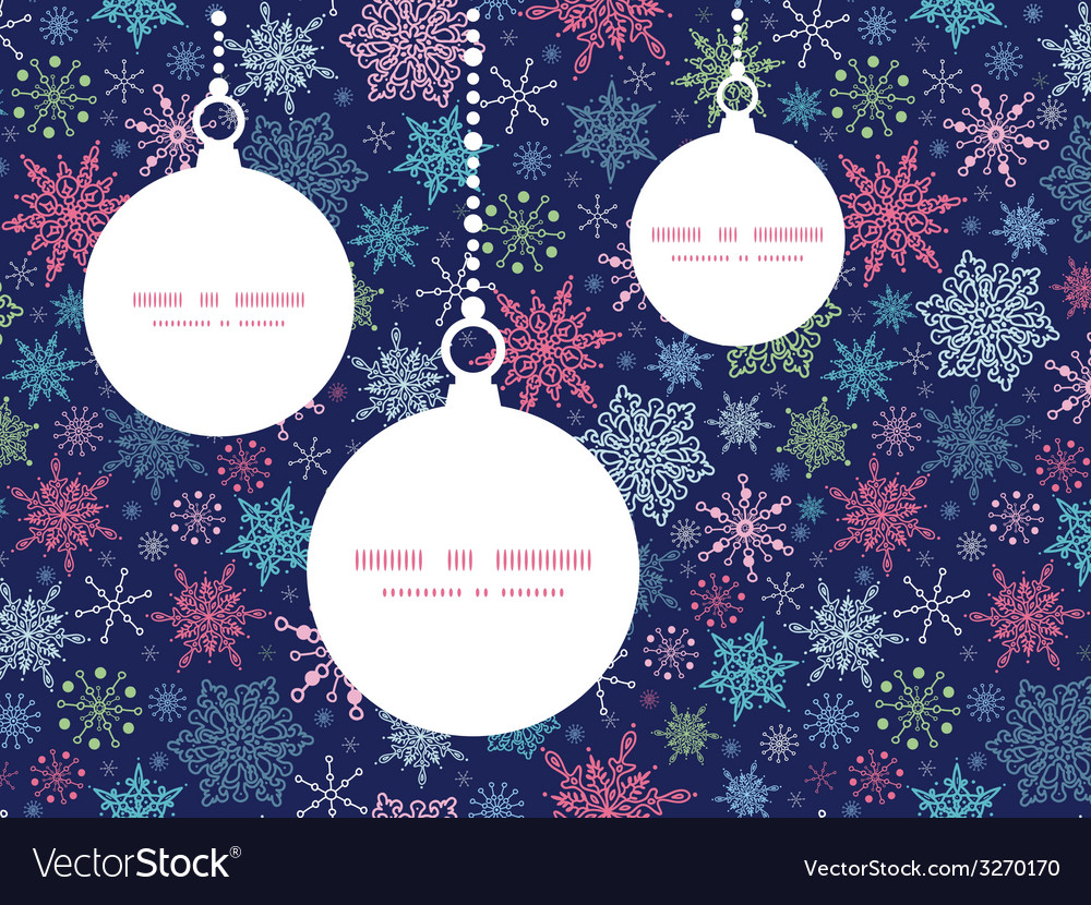 Snowflakes on night sky christmas snowflake vector
