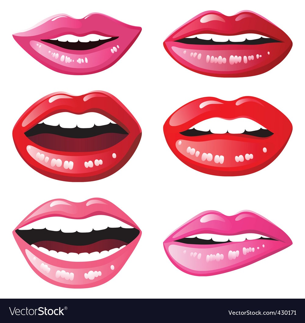Glossy lips vector