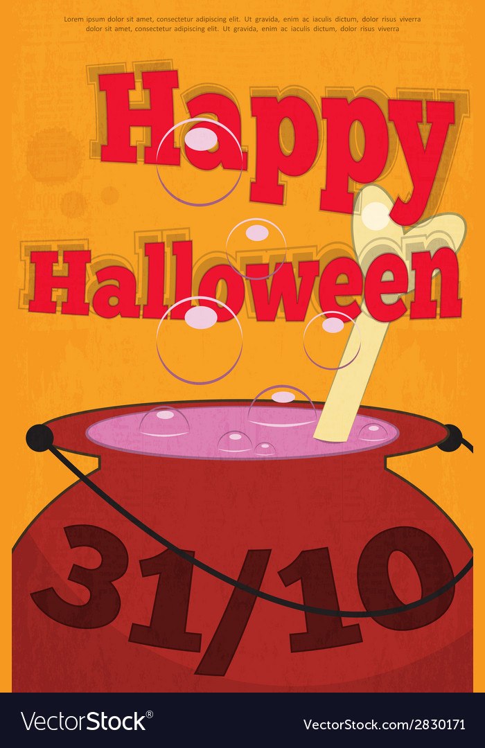 Halloween pot vector