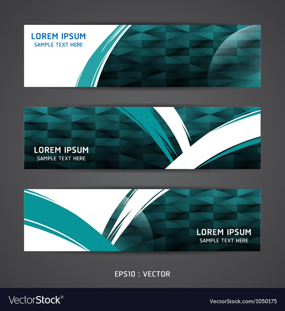 Collection banner design horizontal vector