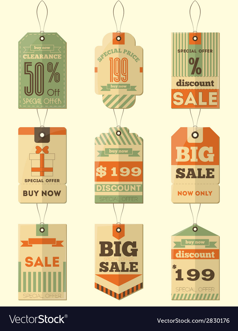 Tag price vector