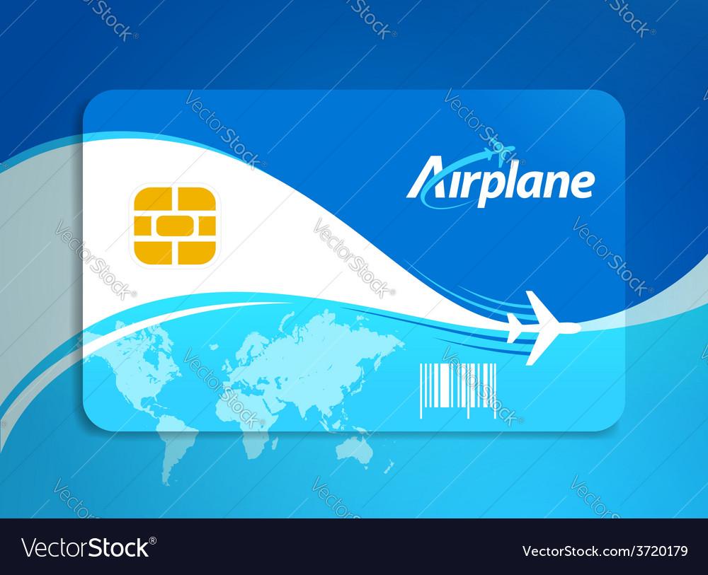 Airplane flight tickets air fly sky blue travel vector