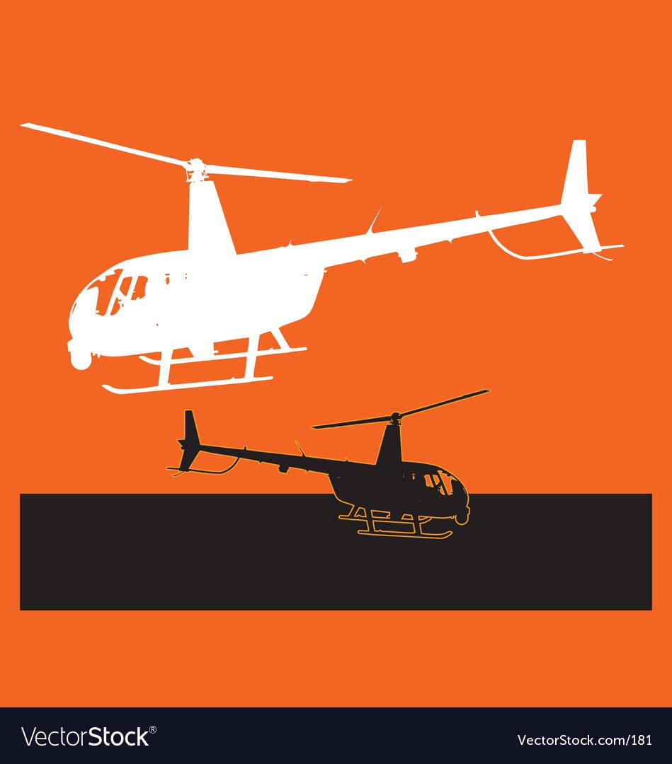 Chopper landing vector