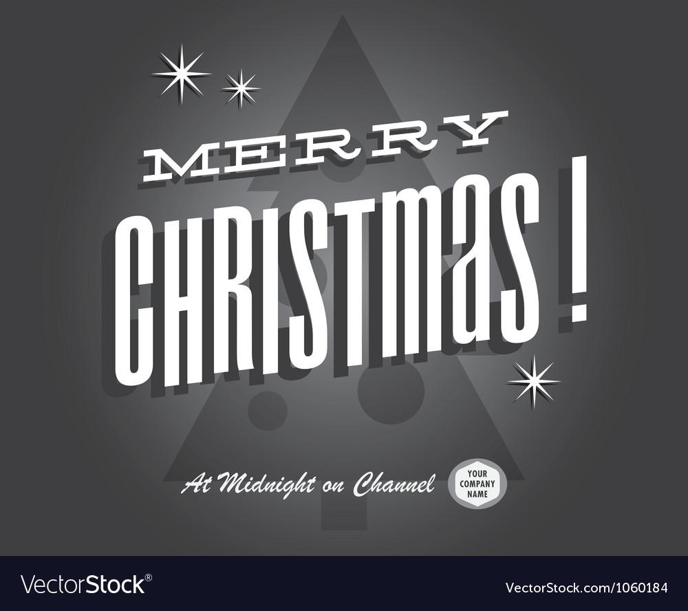 Merry christmas card vintage vector