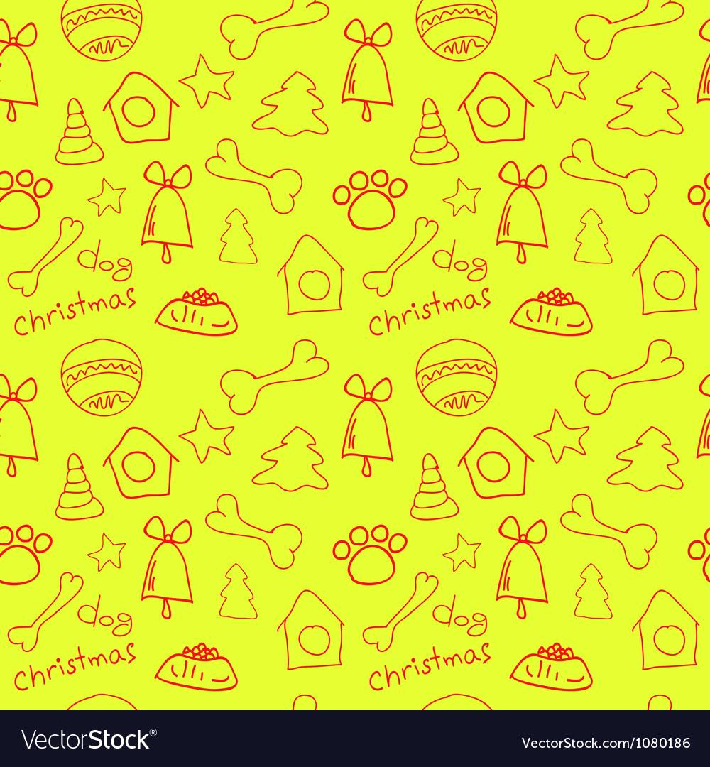 Fun christmas seamless lemon yellow pattern vector