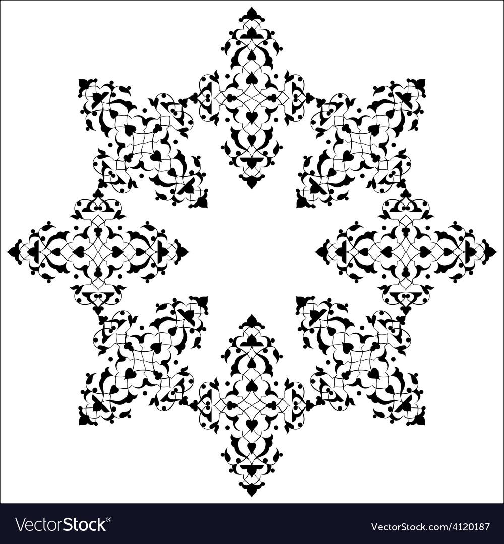 Artistic ottoman pattern series seventy five vector