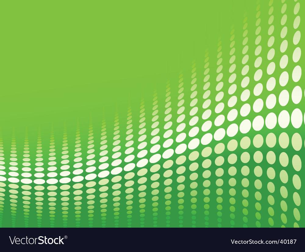 Green halftone background vector