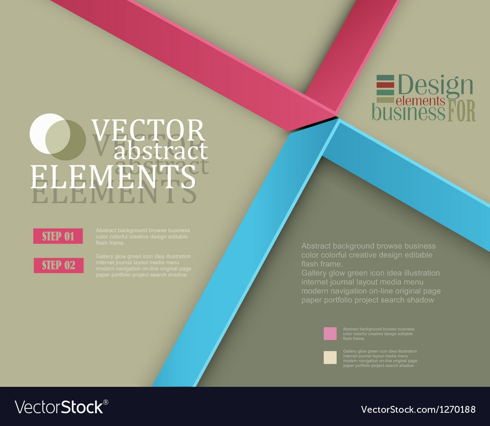 Modern banner items for web business design vector