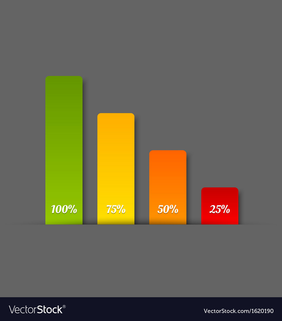 Simple bar chart vector