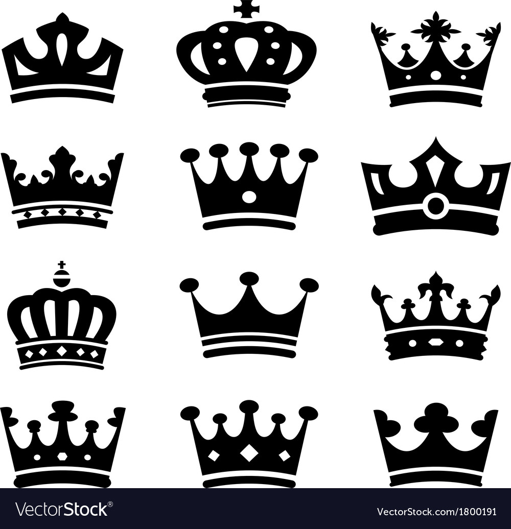 Crown collection - silhouette vector