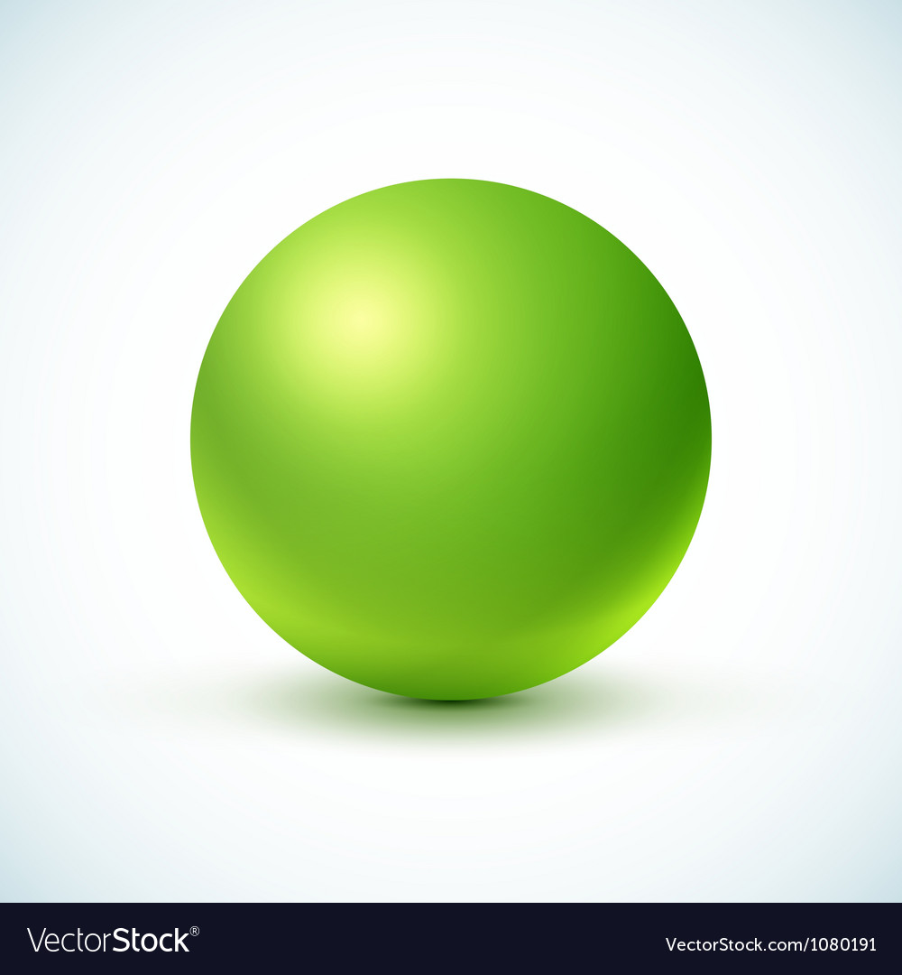 Green glossy sphere vector