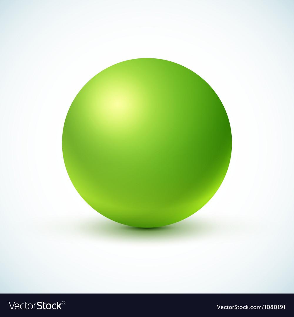 Green glossy sphere vector
