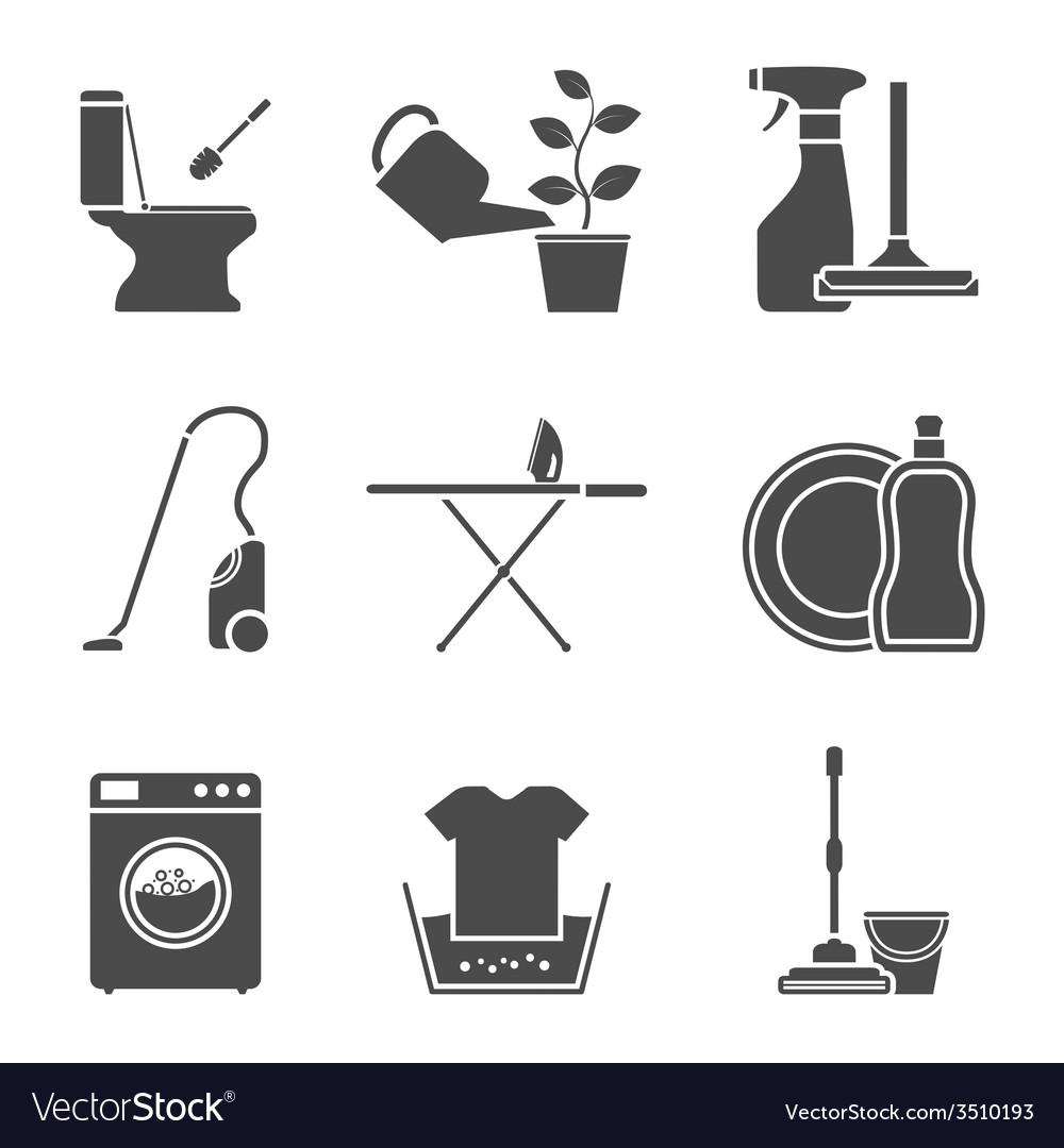 Housework icons vector