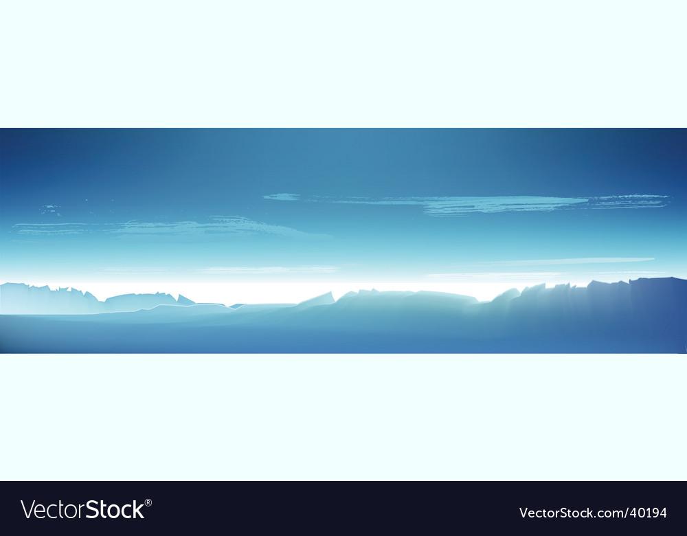 Northern landscape vector
