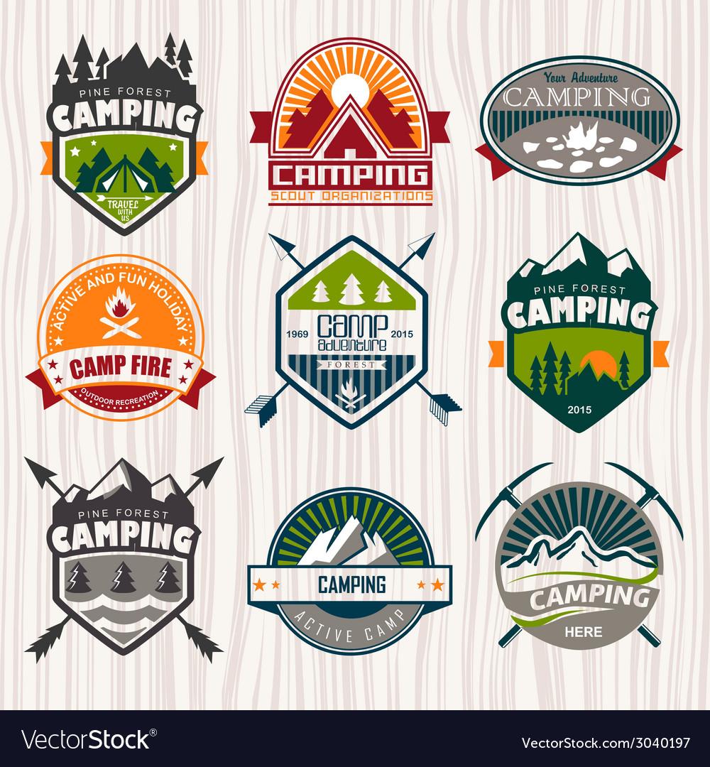 Camping vector