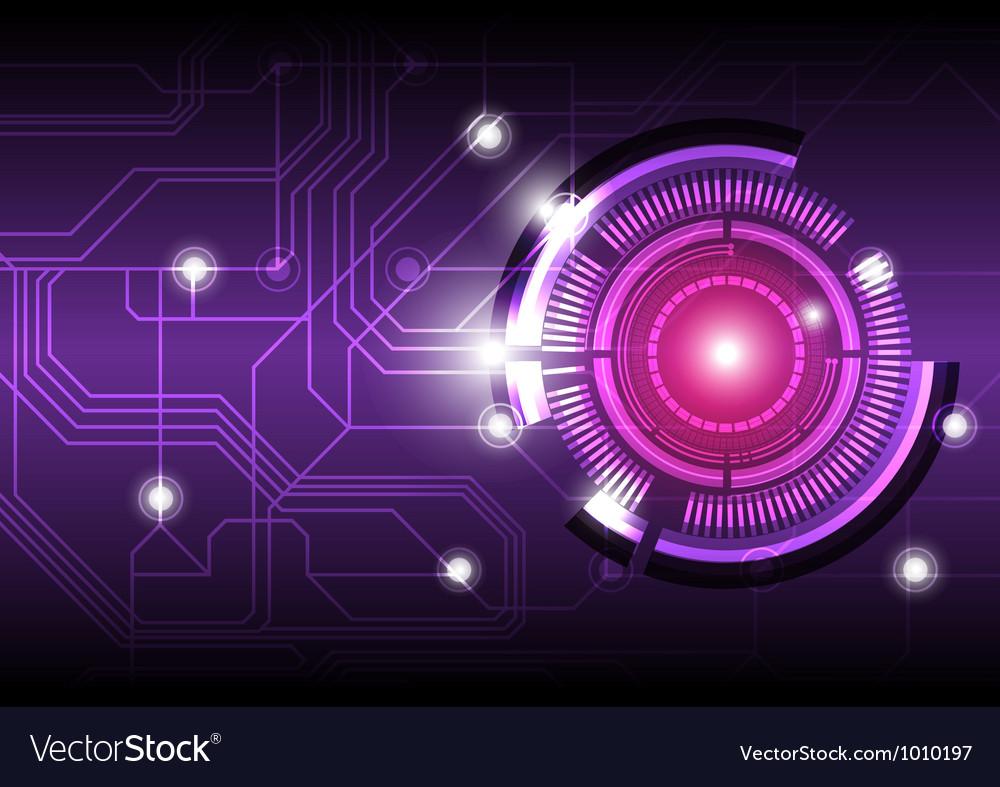 Future digital button design background vector