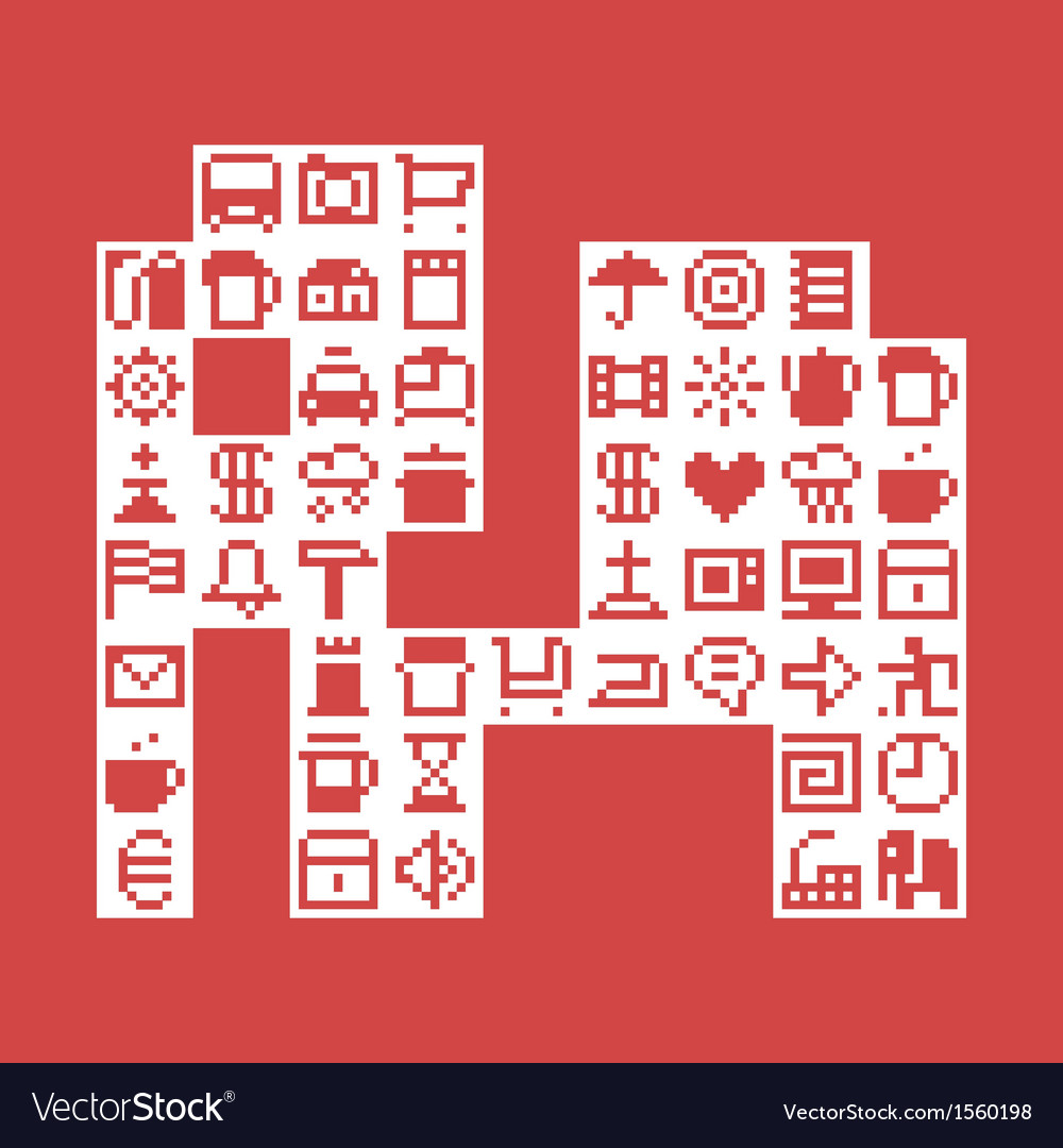 Pixel elephant vector