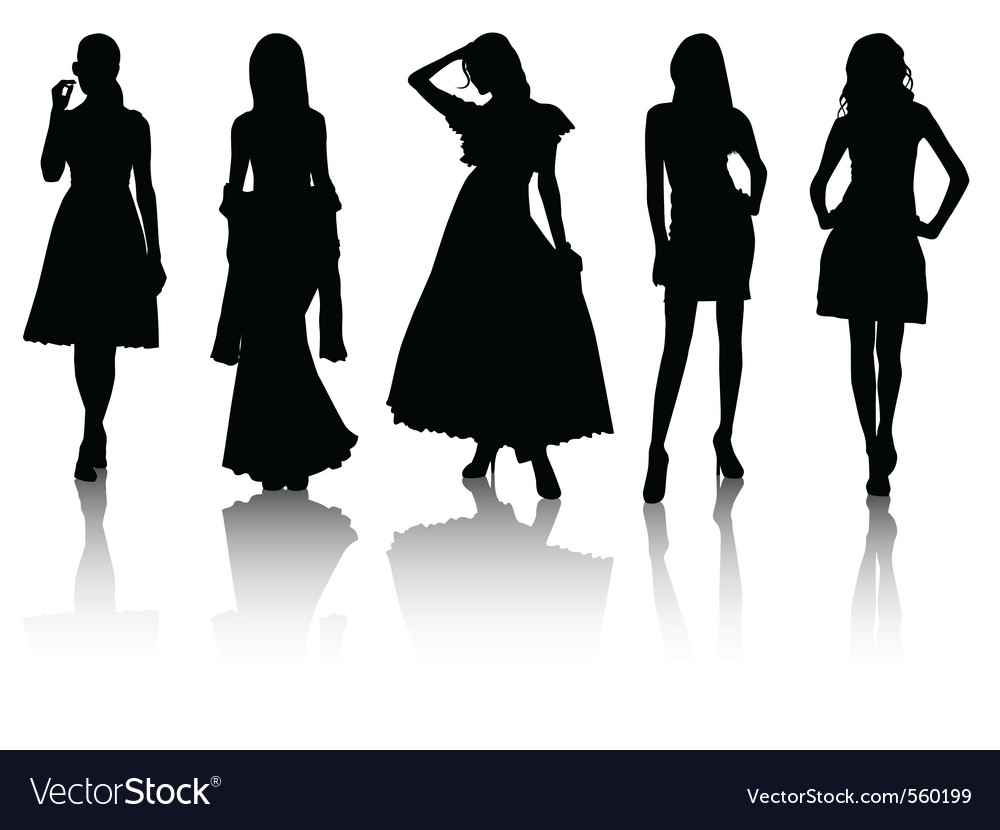 Silhouette beauty vector