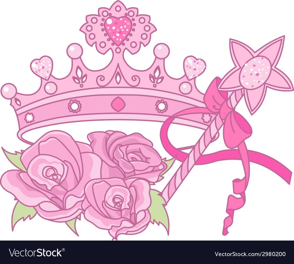 Princess crown vector