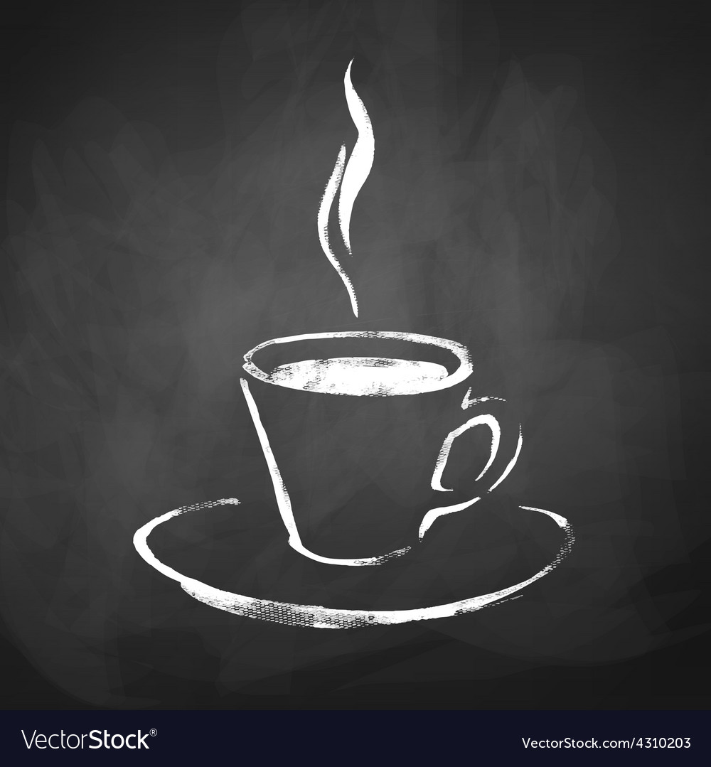 A cup of coffee with steam vector