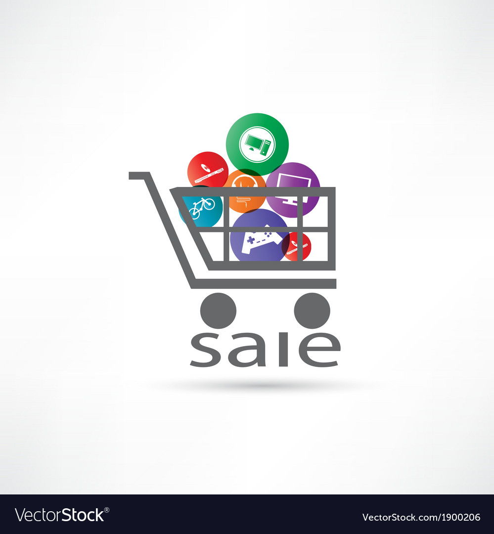 Electronic equipment for sale icon vector