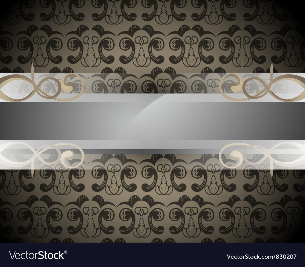 Bar for text on patterned background vector