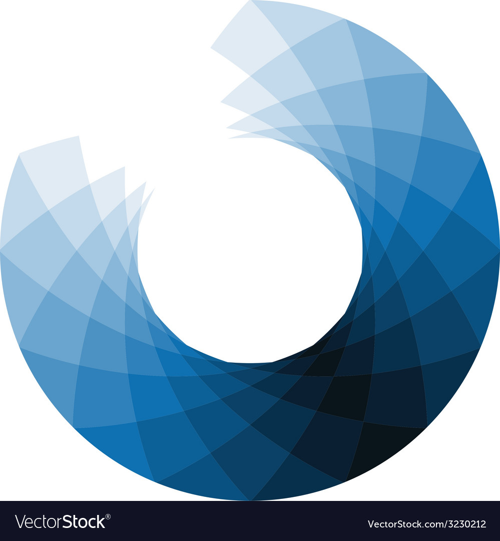 Blue design element vector
