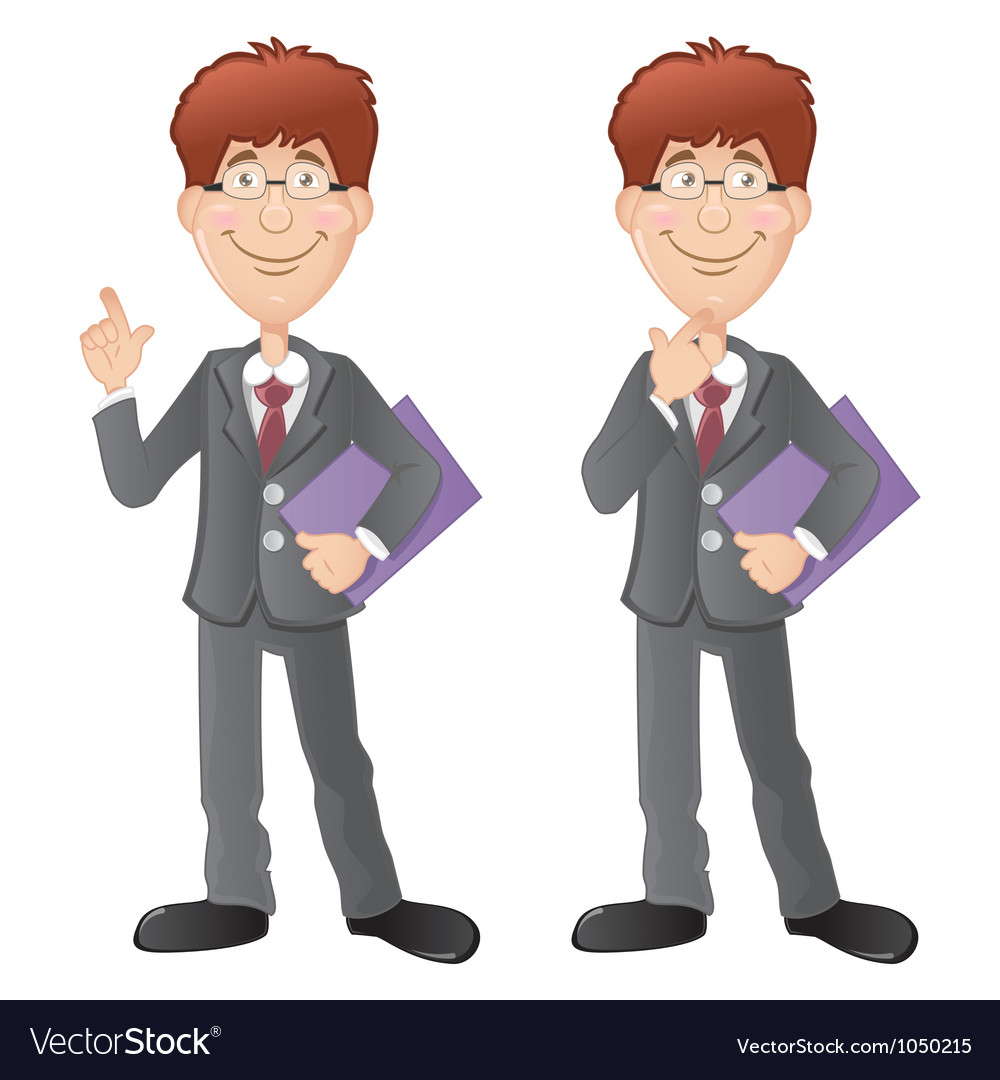 Two office workers vector