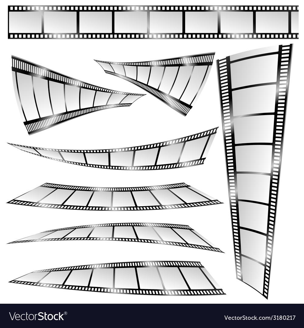 Film tape color art vector