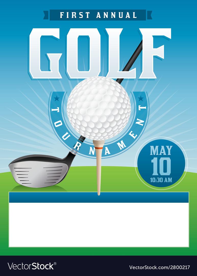 Golf tournament flyer vector