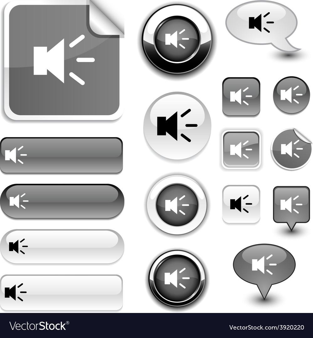 Sound signs vector