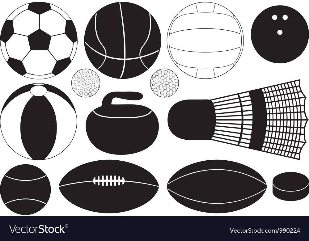 Game balls vector