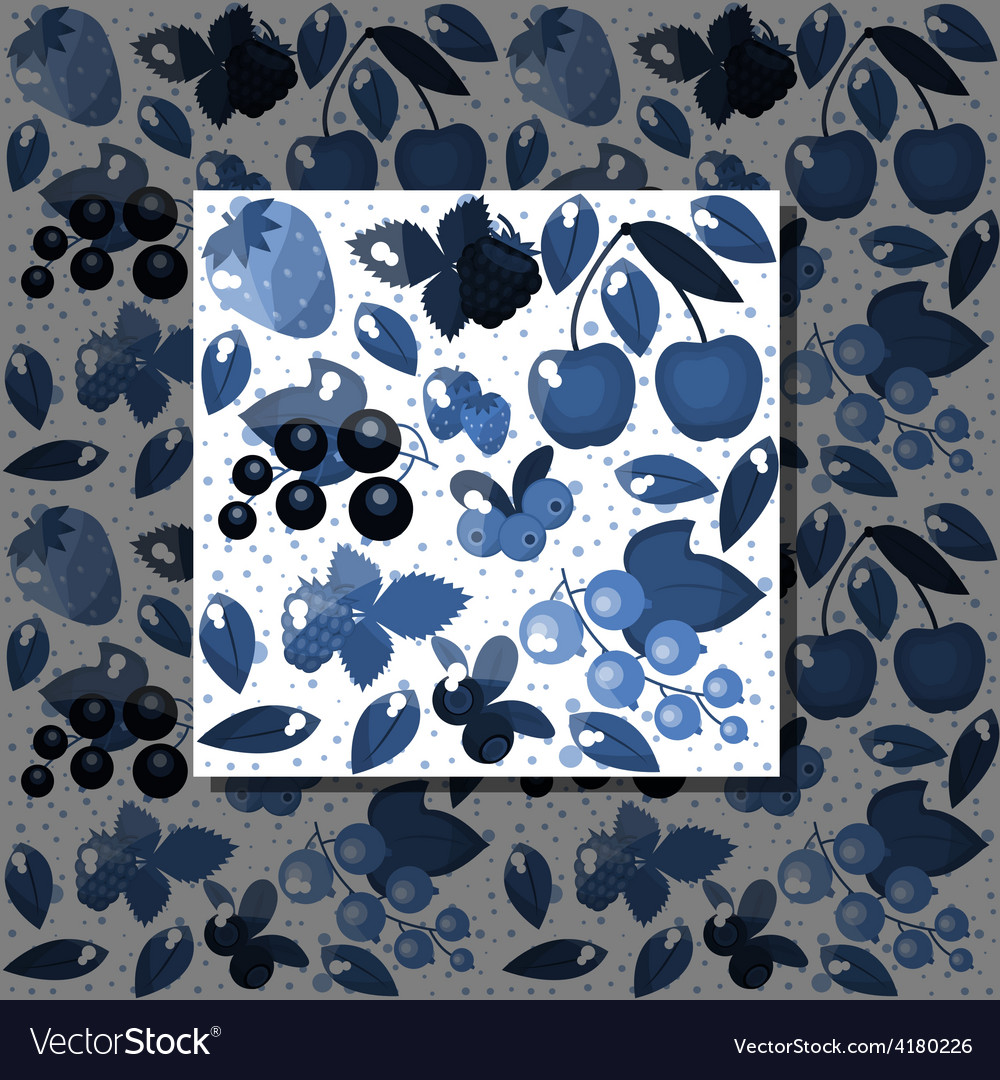 Blue berries vector