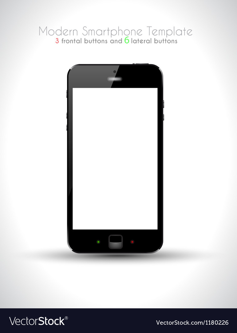 Ultra realistic modern touch smartphone vector
