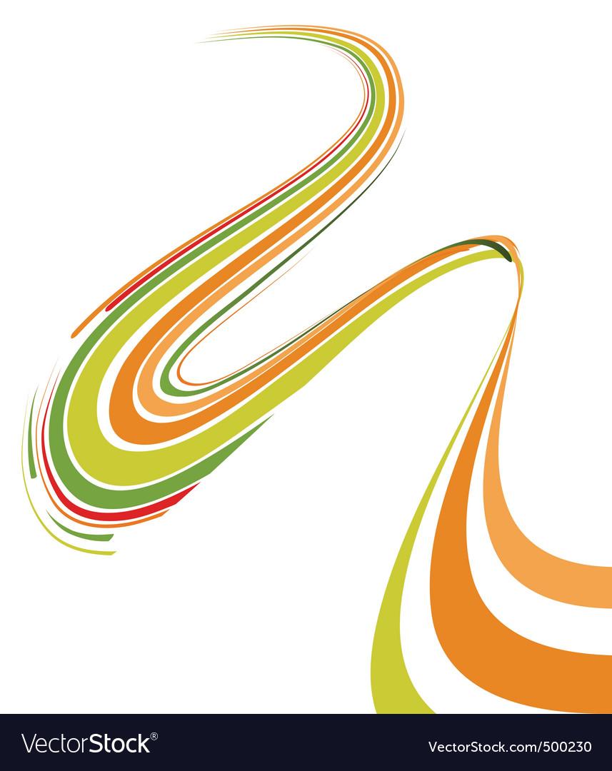 Abstract bent lines vector