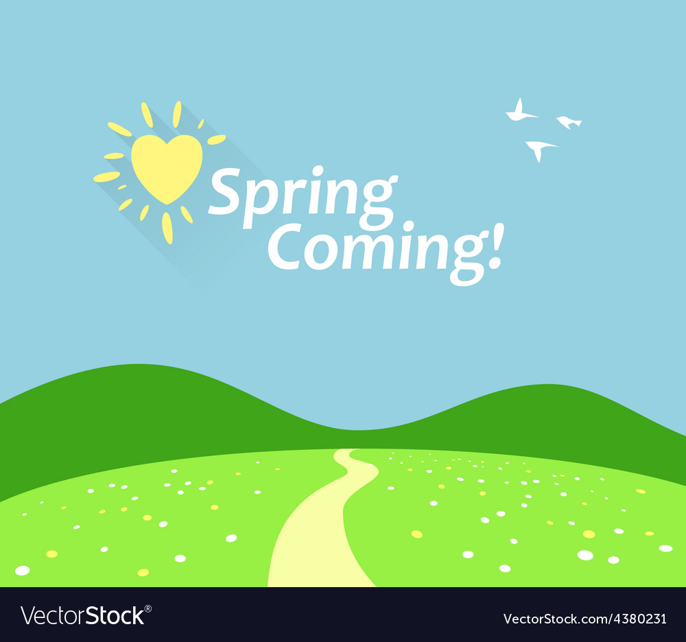 Spring comming vector