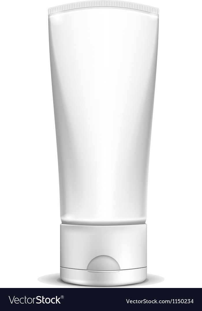 Blank white cream tube or cosmetic bottle vector