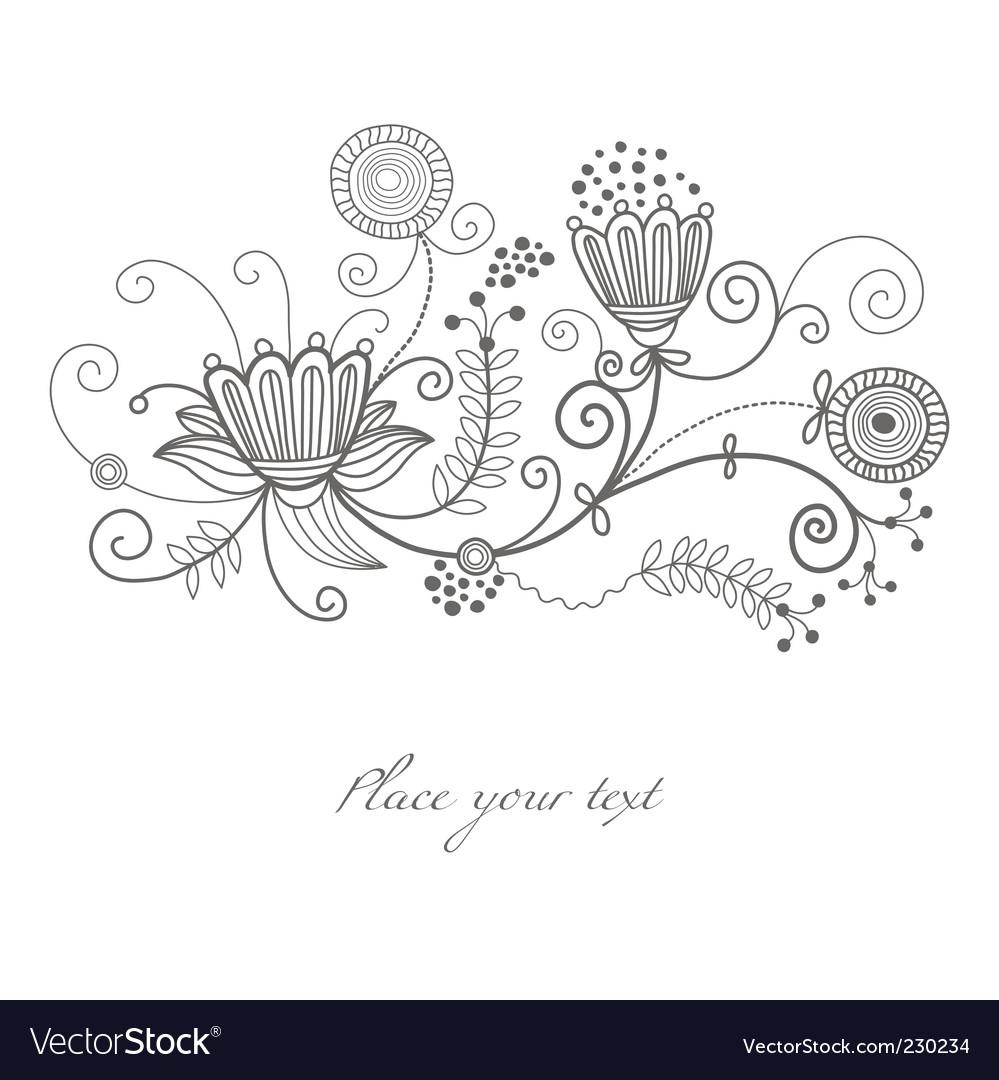 Swirl flourish vector