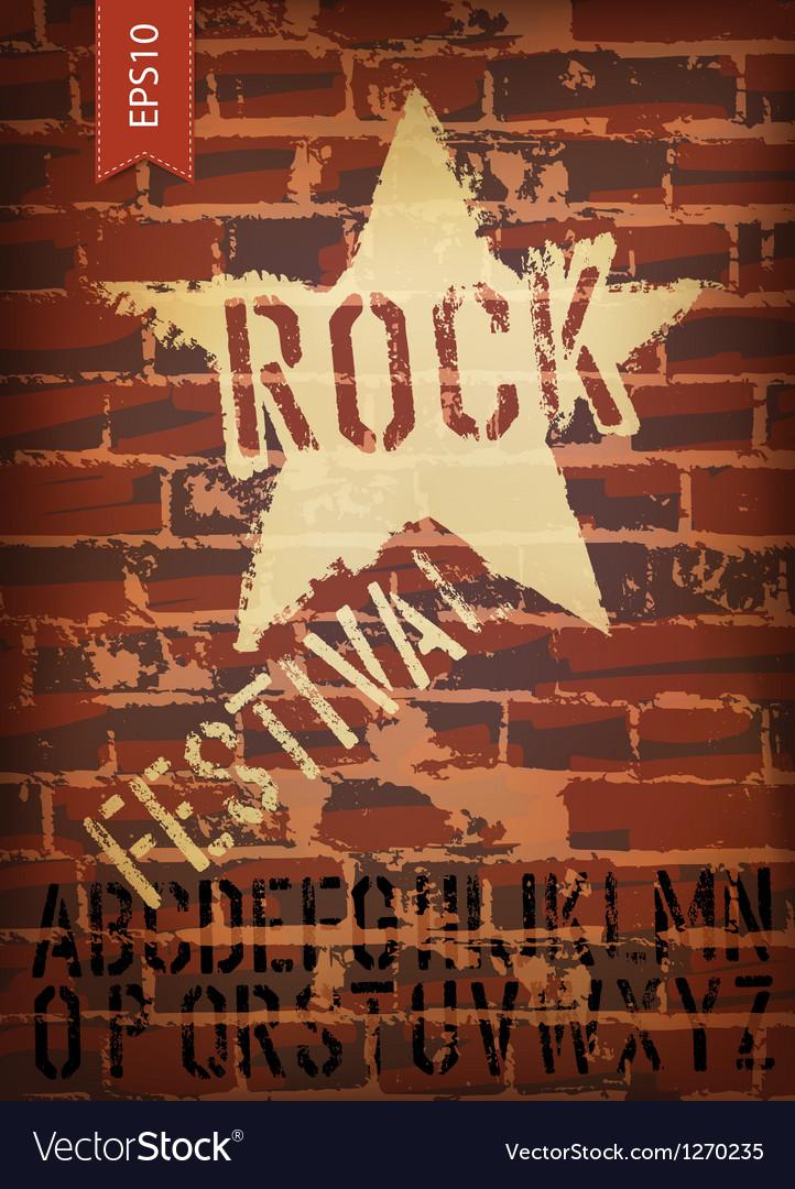 Rock festival template vector