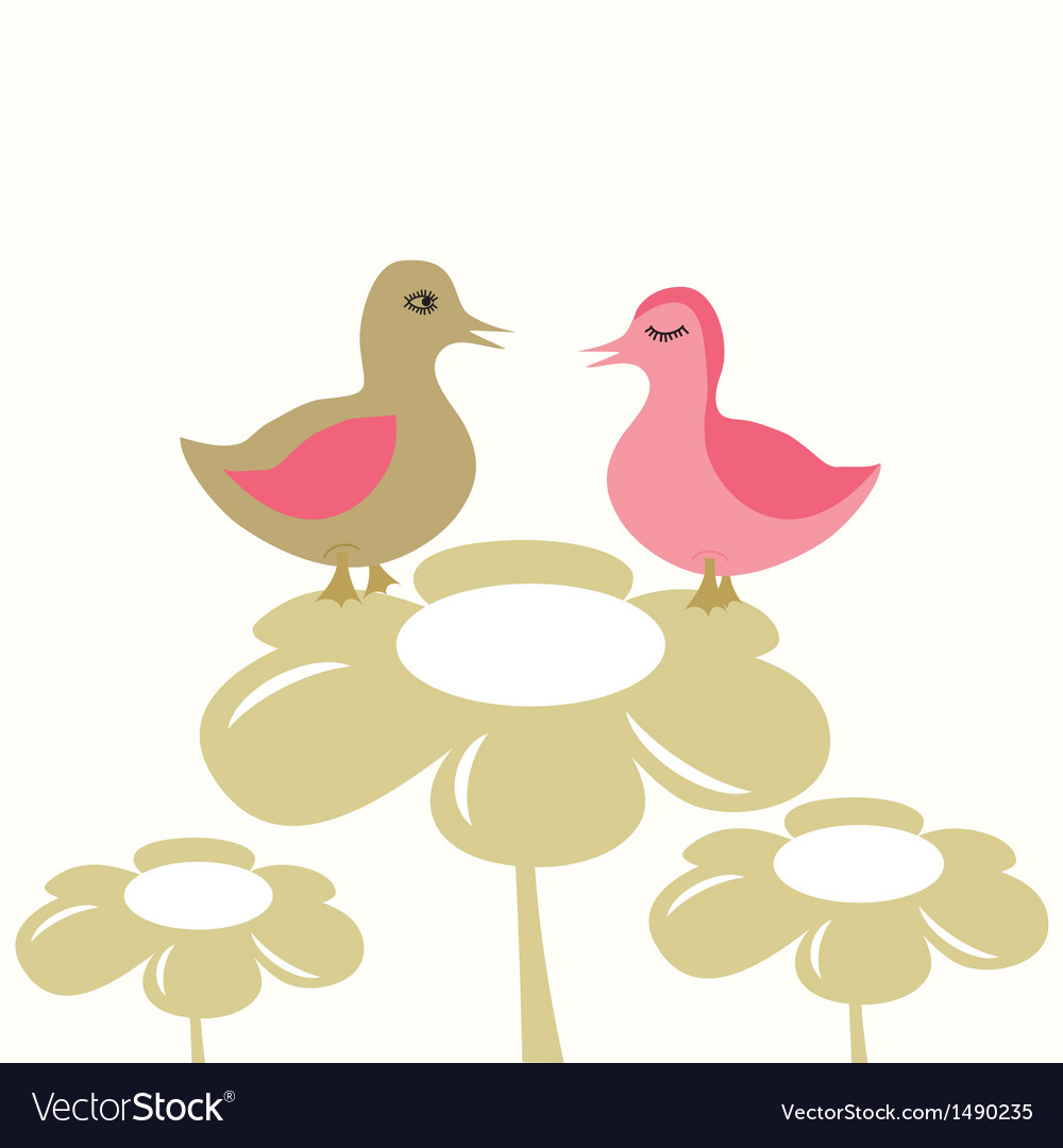 Young chicks vector